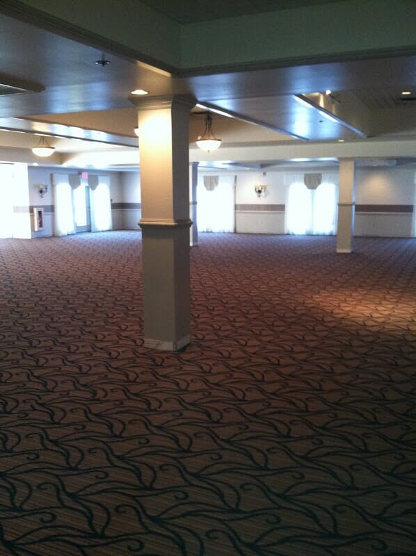 Commercial ballroom carpet installation in Rochester NY by Christian Flooring