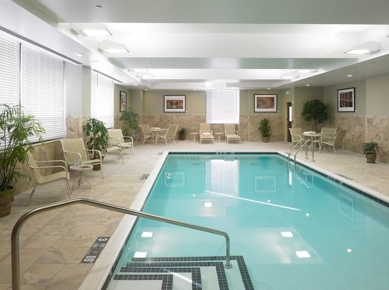 Hotel pool tile flooring in Rochester NY by Christian Flooring
