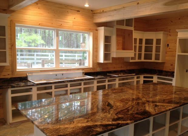 Luxury kitchen remodel in Denham Springs LA from Wholesale Flooring & Granite
