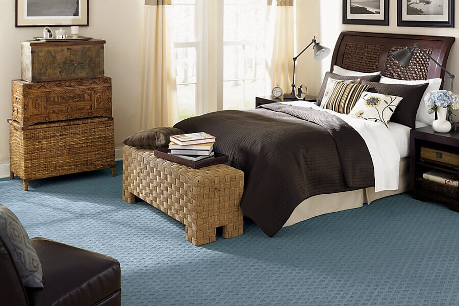 Carpet floors for bedroom from Vern's Carpet near Fargo MN