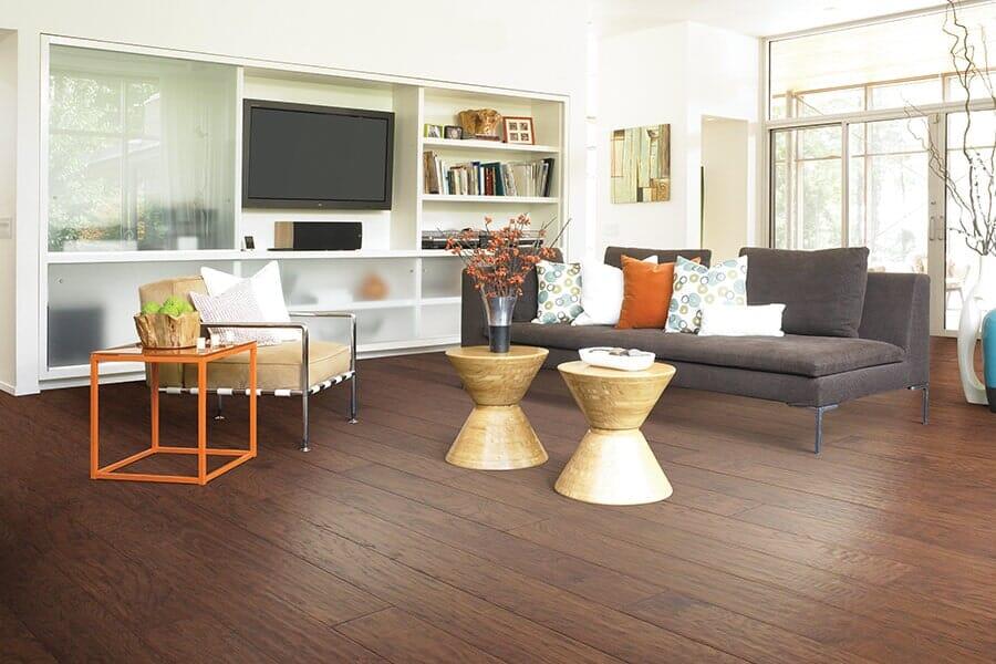 Hardwood floor installation from Vern's Carpet near Fertile MN