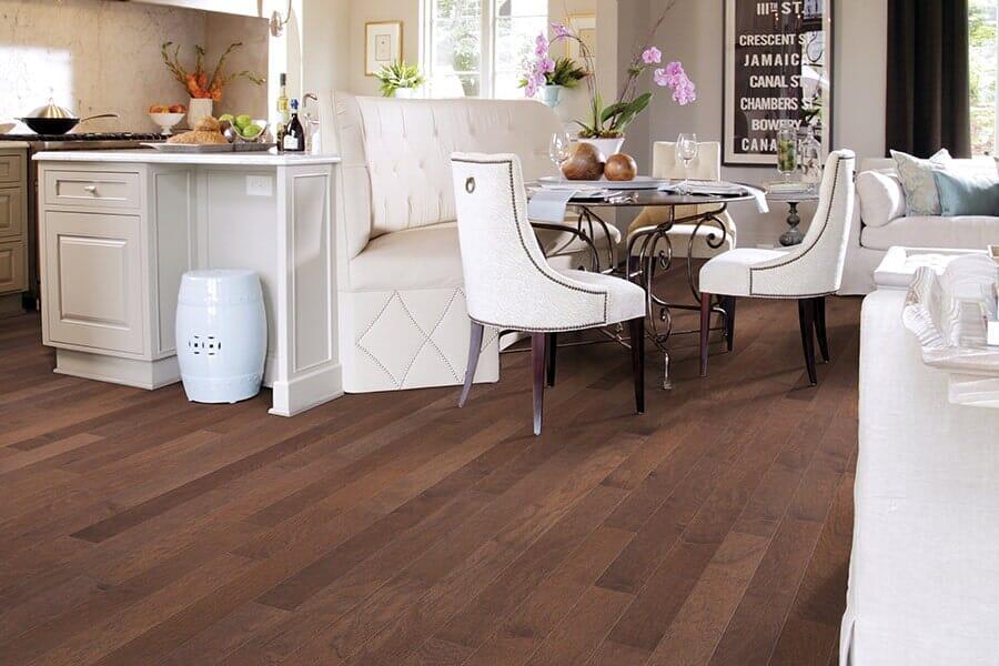 Hardwood flooring for kitchen from Vern's Carpet near Grand Forks MN