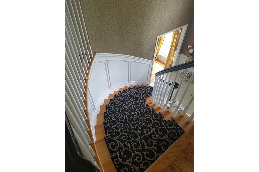 Home Carpeted Staircase Sample