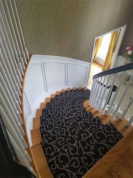 Carpeted Home Sample Stairs