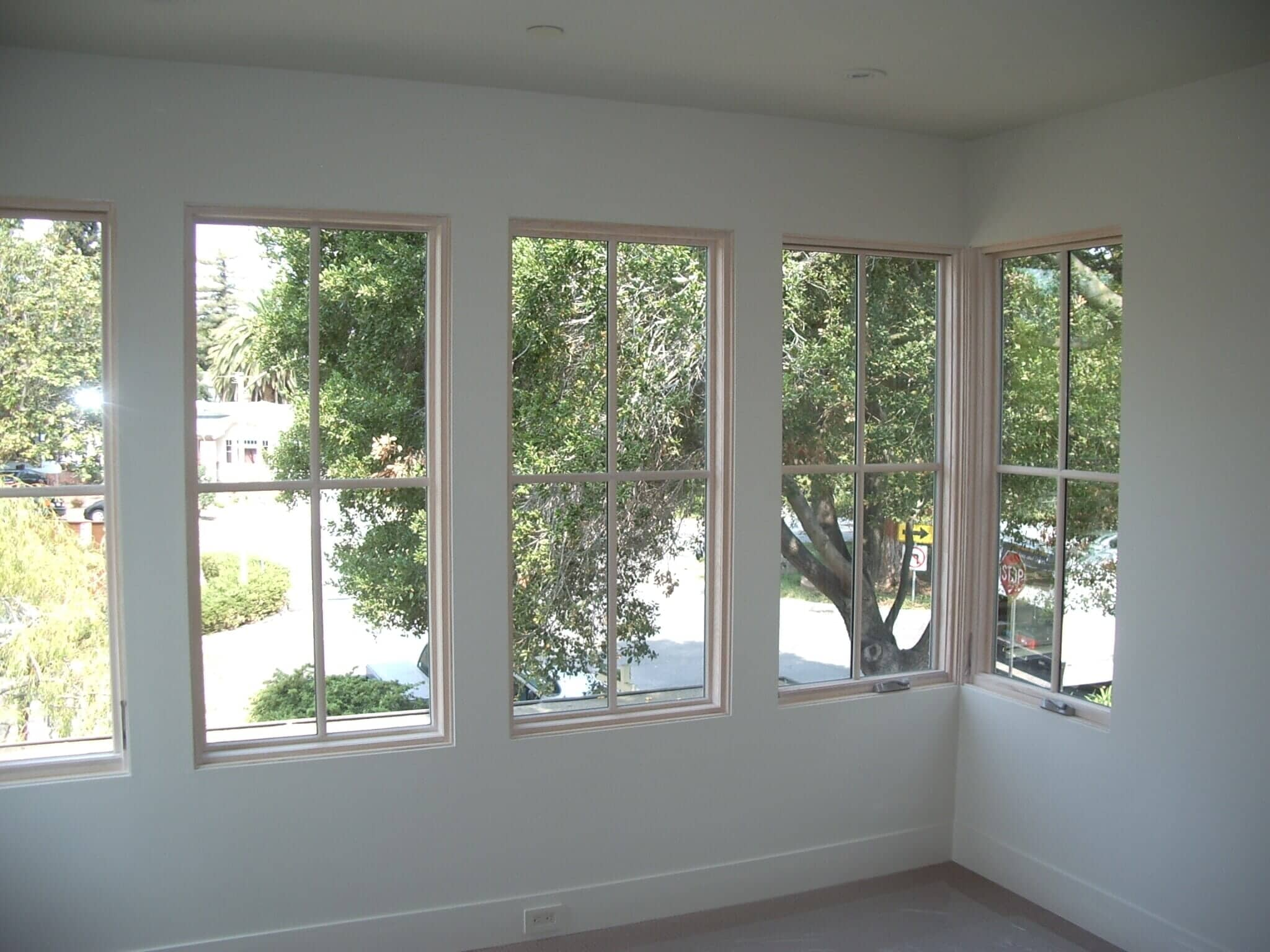 No Interior Trim, Select Windows, Los Altos, California