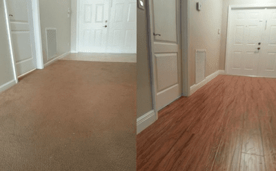 Hardwood floor installation from Capitol Carpet & Tile and Window Fashions in Boca Raton, FL