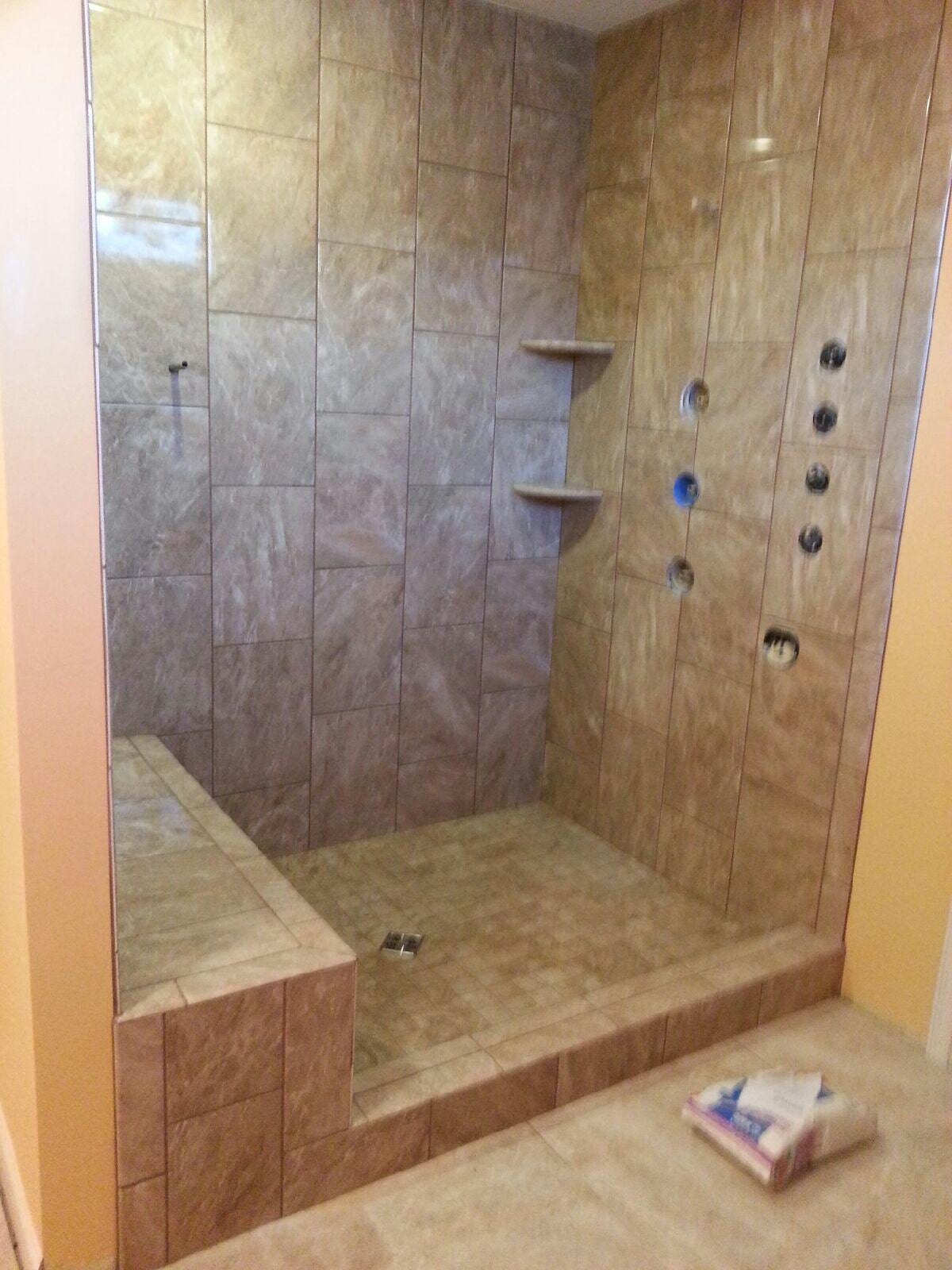 Shower renovation in Uniontown OH from Barrington Carpet & Flooring Design