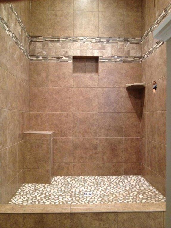 Bathroom shower in Hartville OH from Barrington Carpet & Flooring Design