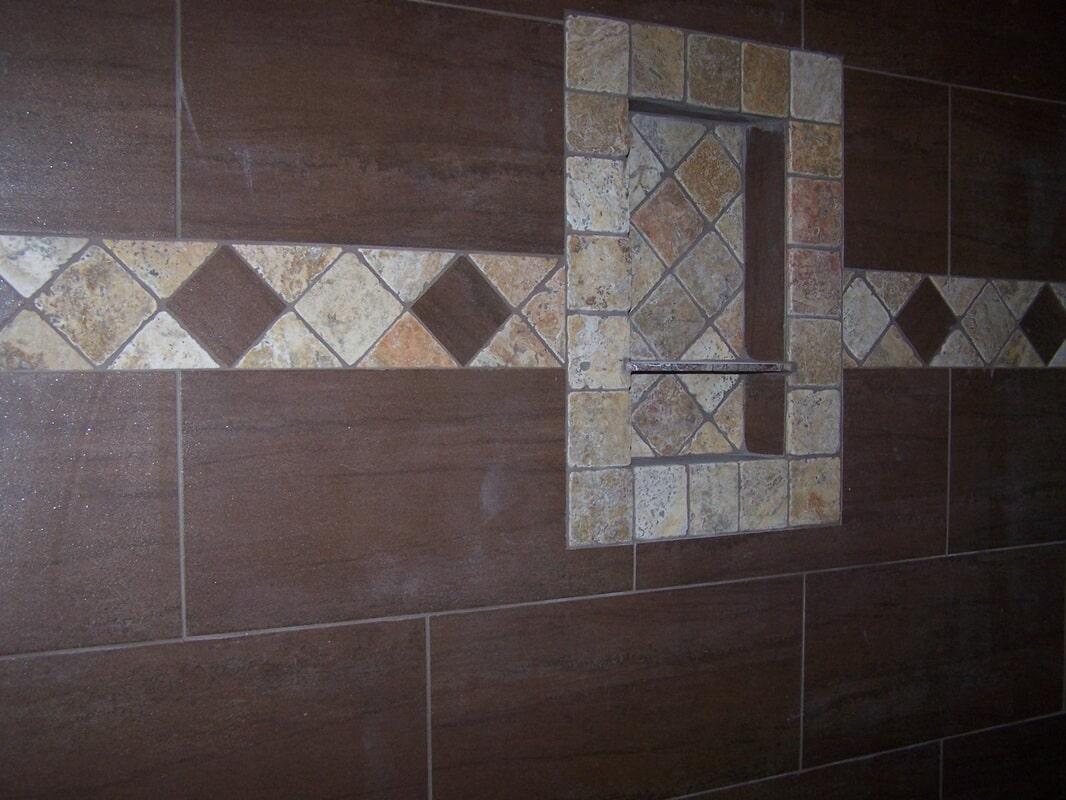 Tile shower in Decatur AL from Alabama Custom Flooring & Design