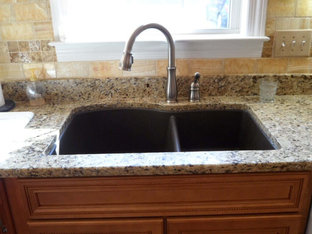 Custom granite sink in Madison AL from Alabama Custom Flooring & Design