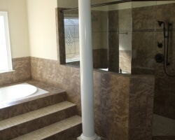 Luxury bathroom renovation in Wilson NC from Richie Ballance Flooring