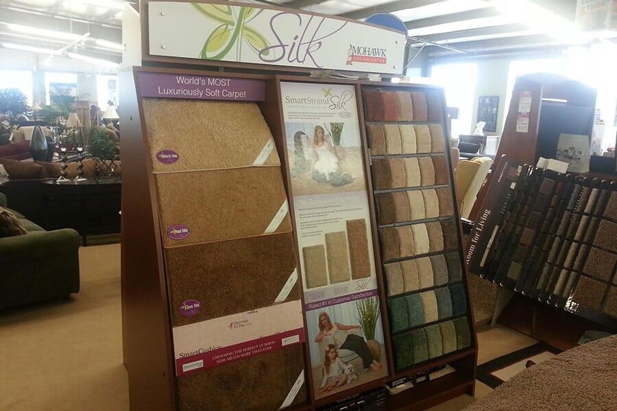 Carpet showroom in Edwardsville IL from Jerseyville Carpet & Furniture Galleries