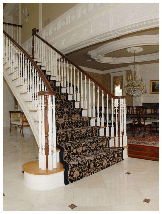 Custom stair runner in Wyckoff, NJ from G. Fried Flooring & Design