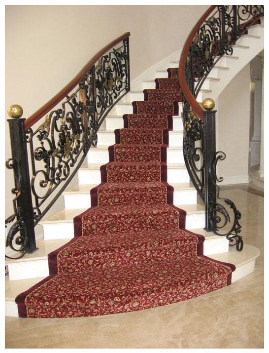 Custom stair runner in Franklin Lake, NJ from G. Fried Flooring & Design