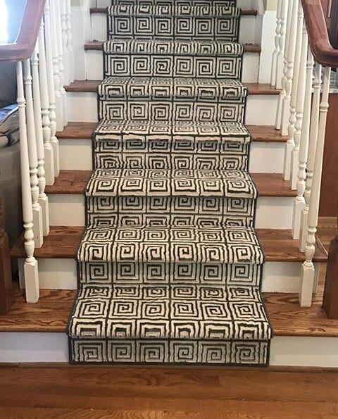 Carpet on stairs in Garner NC from Bell's Carpets & Floors