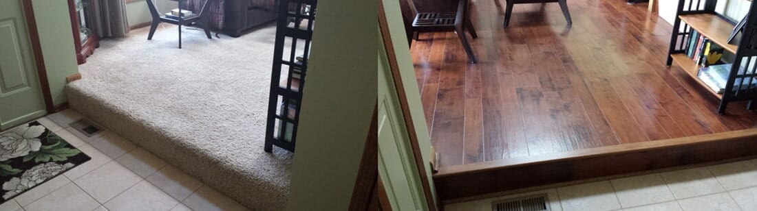hardwood and carpet flooring from Sherlock's Carpet & Tile in Frankfort, IL