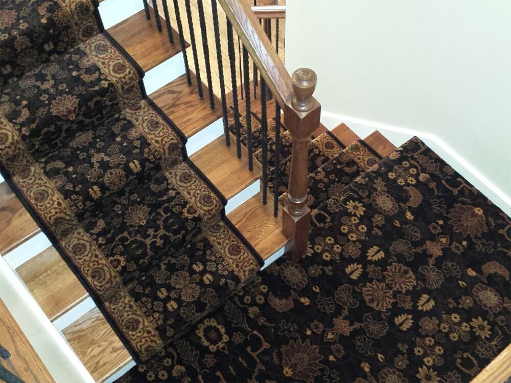 Stair runner carpet from Sherlock's Carpet & Tile in Tinley Park, IL