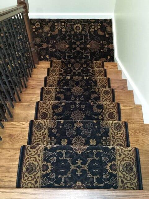 Stair runner carpet from Sherlock's Carpet & Tile in Frankfort, IL