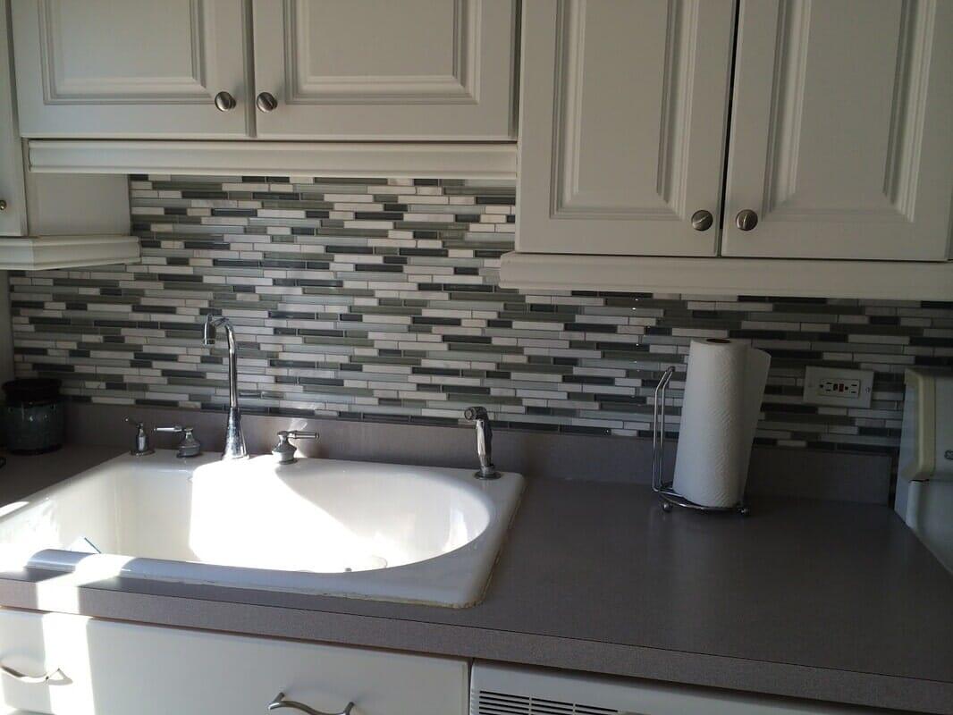 tile backsplash from Sherlock's Carpet & Tile in Frankfort, IL