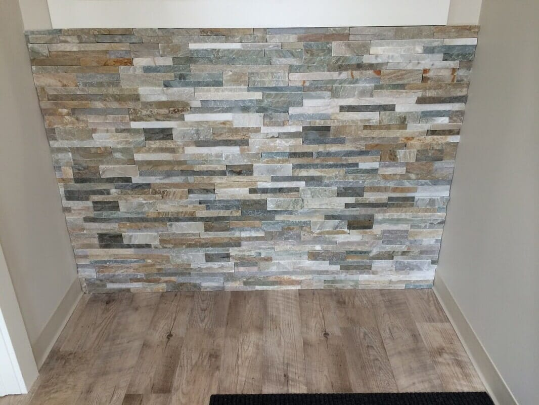 Stone installation in Palos Park, IL from Sherlock's Carpet & Tile