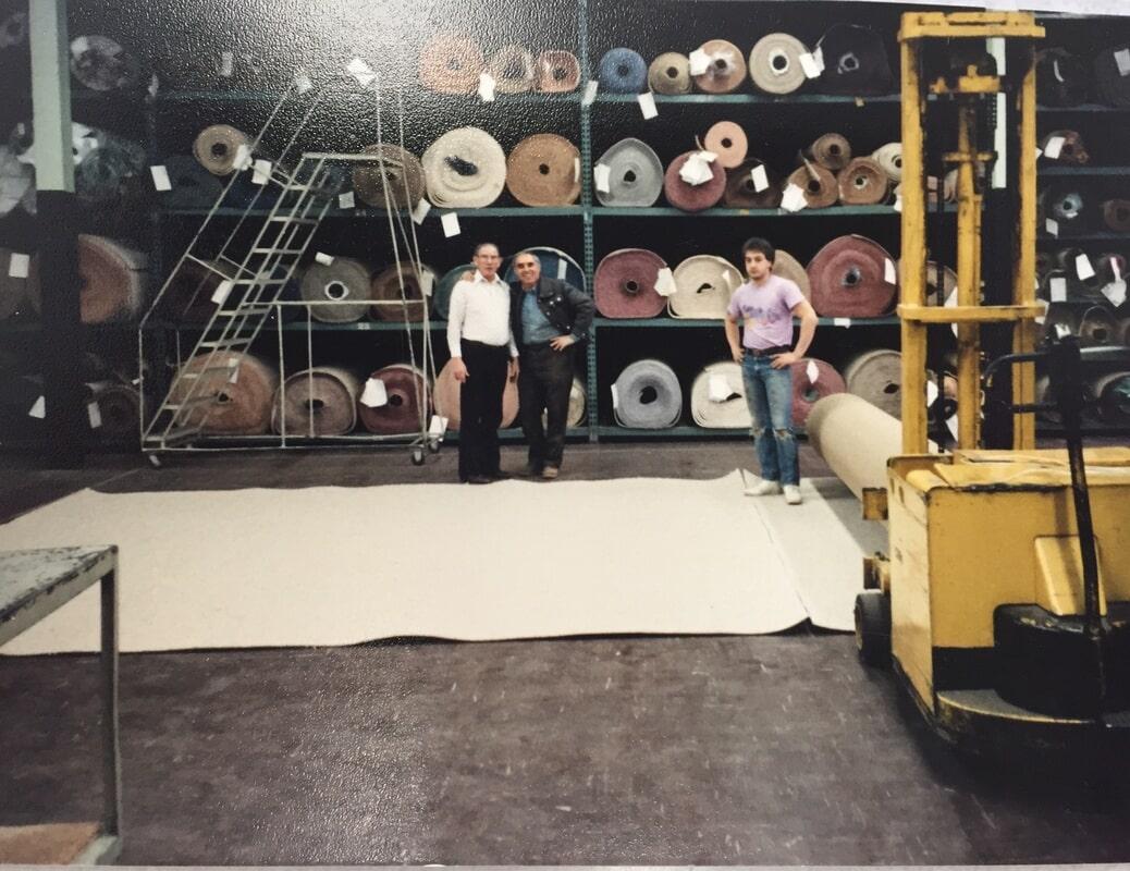 Measuring carpet in the 1980's