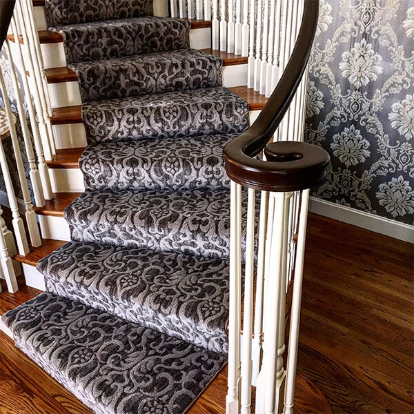 Custom stair runner in Brockton, MA from Paramount Rug Company