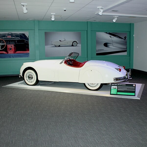 Newport Car Museum - carpet tile flooring in Easton, MA from Paramount Rug Company