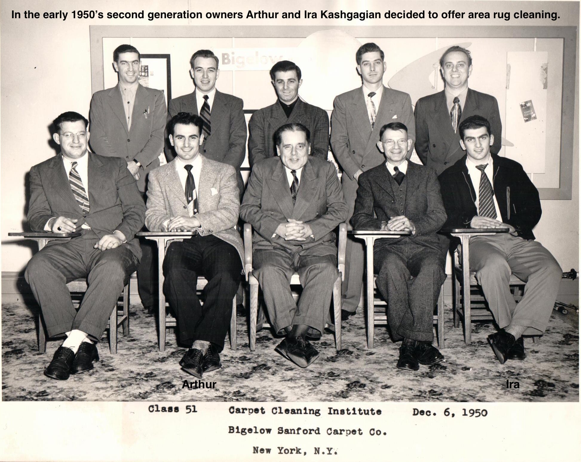 Paramount Rug Company - Carpet Cleaning Institute - Class of 1951 - Bigelow Sanford Carpet co. NY, NY