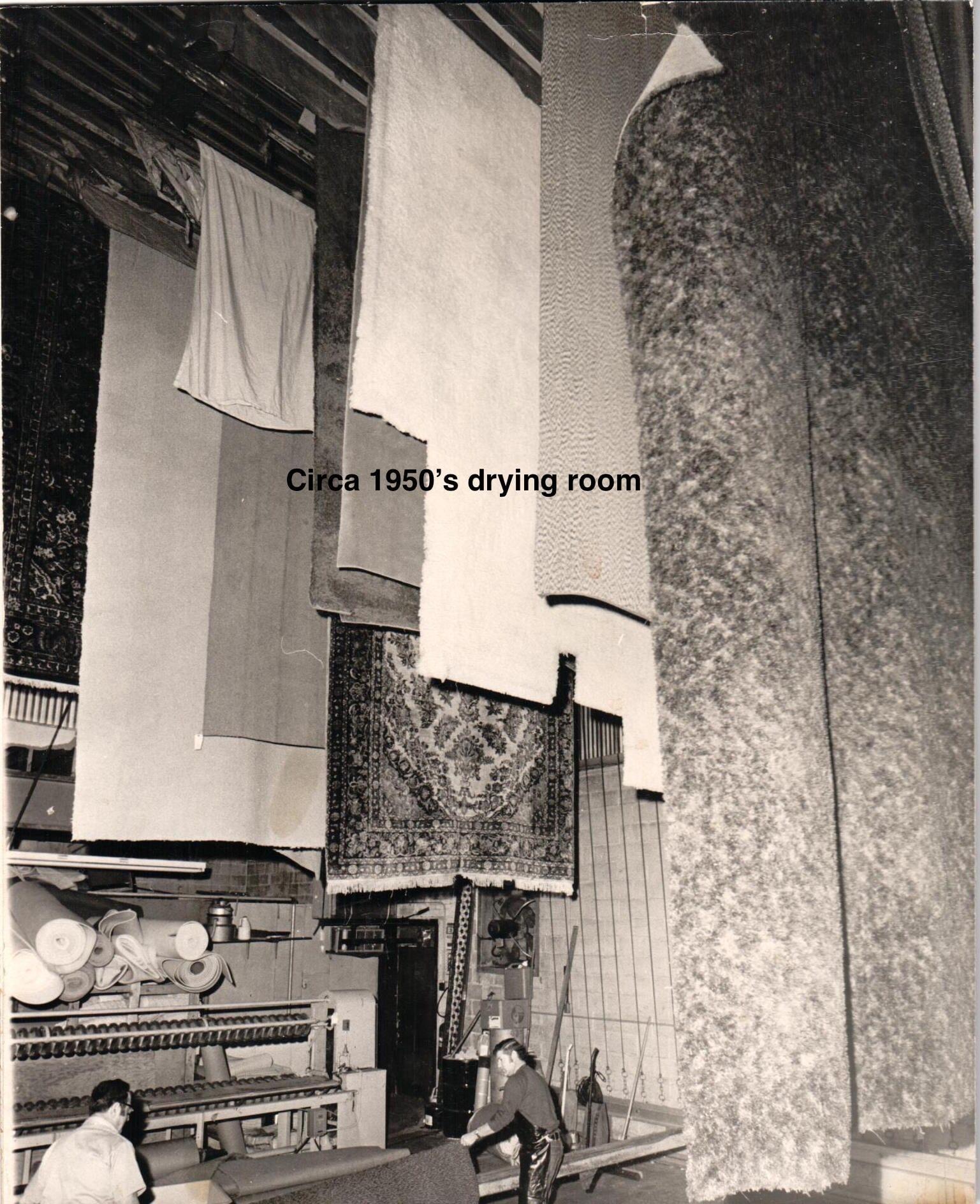 Paramount Rug Company - Drying Rugs