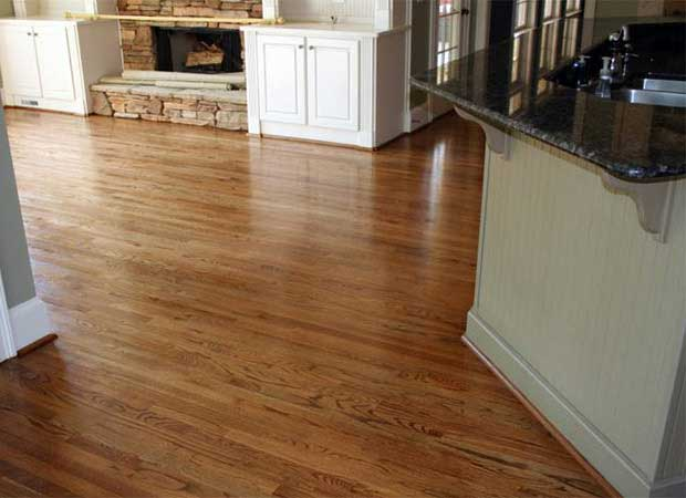 Hardwood refinishing photos in Kennesaw, GA from Bridgeport Carpets