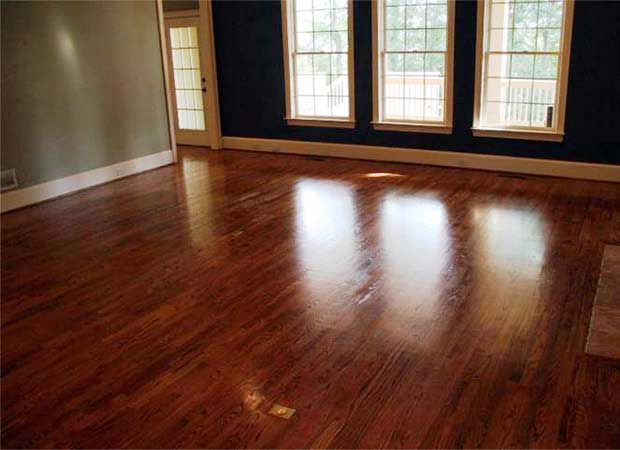 Hardwood refinishing photos in Alpharetta, GA from Bridgeport Carpets