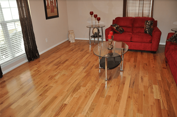 prefinished cabin grade natural red and white oak mix by somerset3