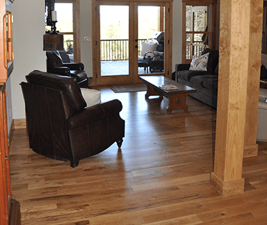 Unfinished White Oak #2 Common Natural Stain