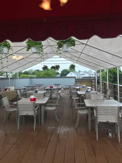 Back Deck, East Wind Lobster and Grille, Buzzards Bay Marina, Massachusetts