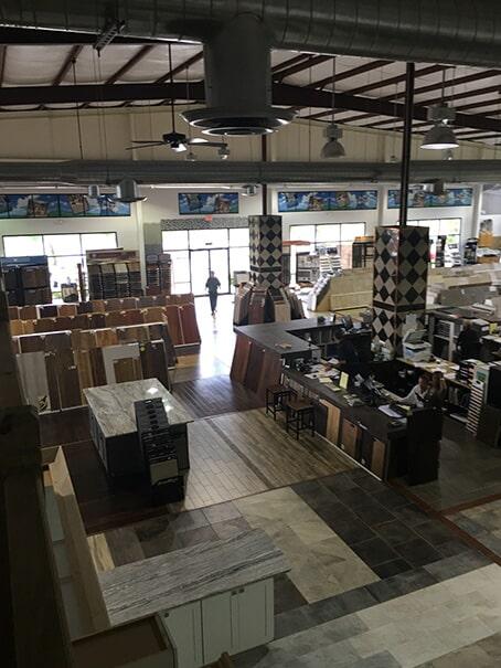 Flooring showroom in Denham Springs LA from Wholesale Flooring & Granite