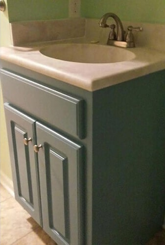 Bathroom sink after in Lucama NC from Richie Ballance Flooring