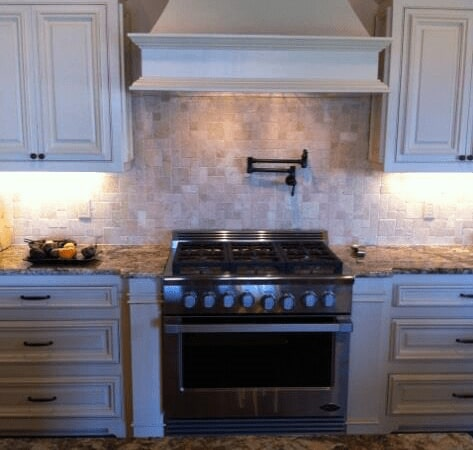 Kitchen backsplash in Baker LA from Wholesale Flooring & Granite