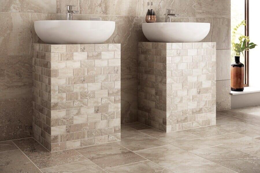 Custom tile bathroom in Anthony, NM from Carpet Warehouse
