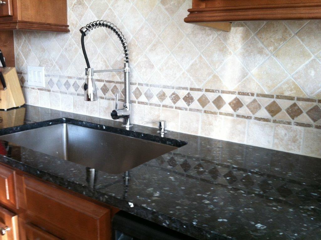 Custom kitchen backsplash installation in Suwannee GA from Purdy Flooring & Design