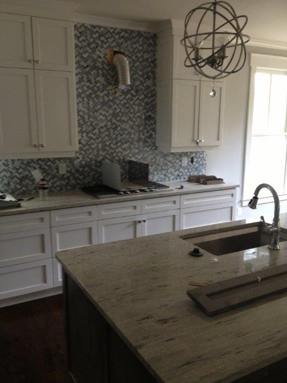 Kitchen backsplash installation in Suwannee GA from Purdy Flooring & Design