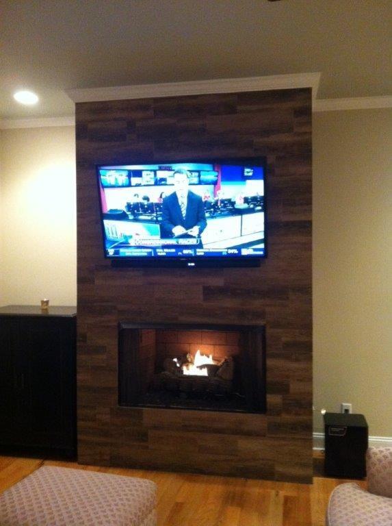 Custom fireplace installation in Dacula GA from Purdy Flooring & Design