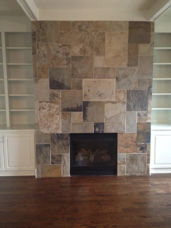 Fireplace installation in Gainesville GA from Purdy Flooring & Design