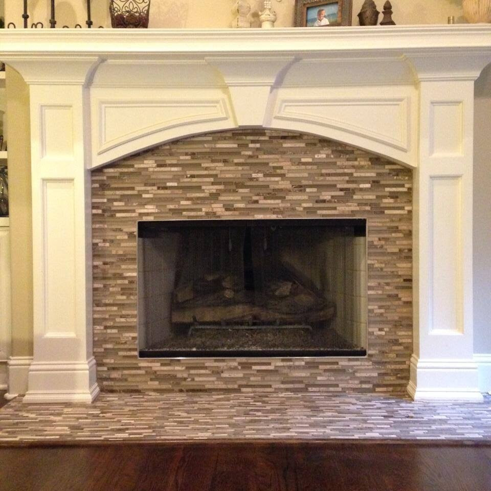 Fireplace hearth installation in Suwannee GA from Purdy Flooring & Design