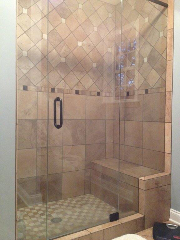 Glass shower door in Dacula GA from Purdy Flooring & Design