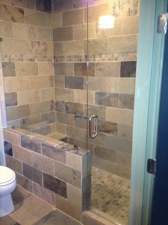 Glass shower doors in Flowery Branch GA from Purdy Flooring & Design