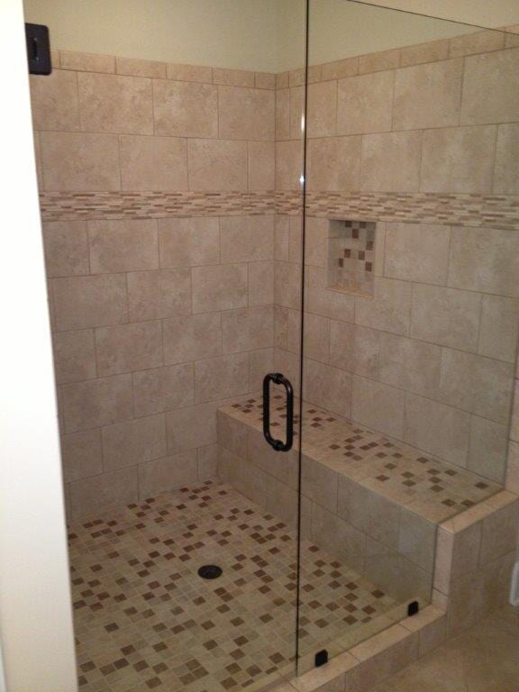 Glass shower doors in Buford GA from Purdy Flooring & Design
