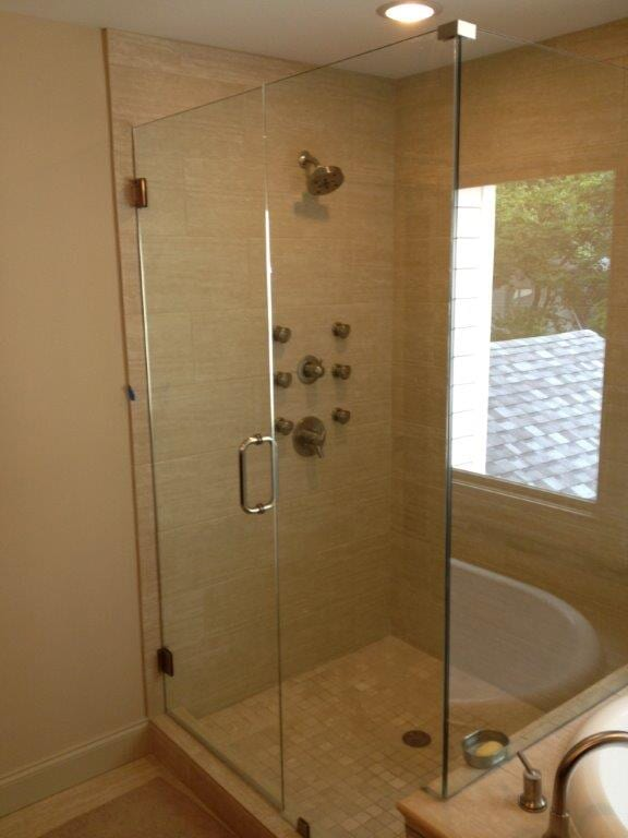 Glass shower doors in Braselton GA from Purdy Flooring & Design