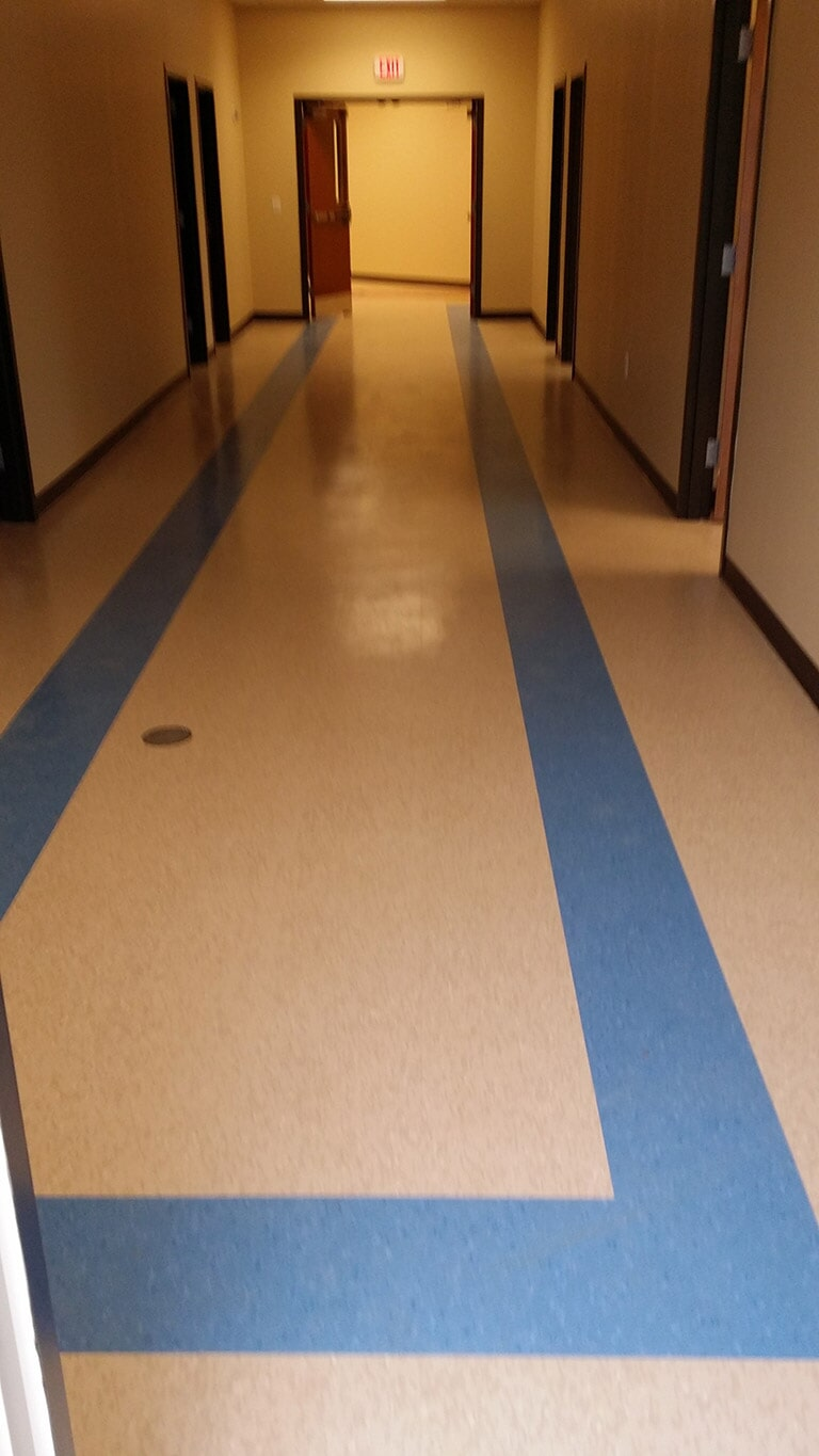 Commercial tile floor installation near Buford GA by Purdy Flooring & Design