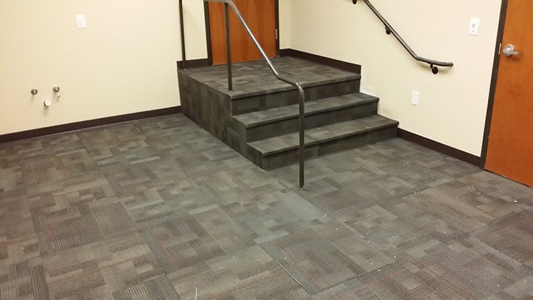 Office carpet tiles in Gainesville GA by Purdy Flooring & Design