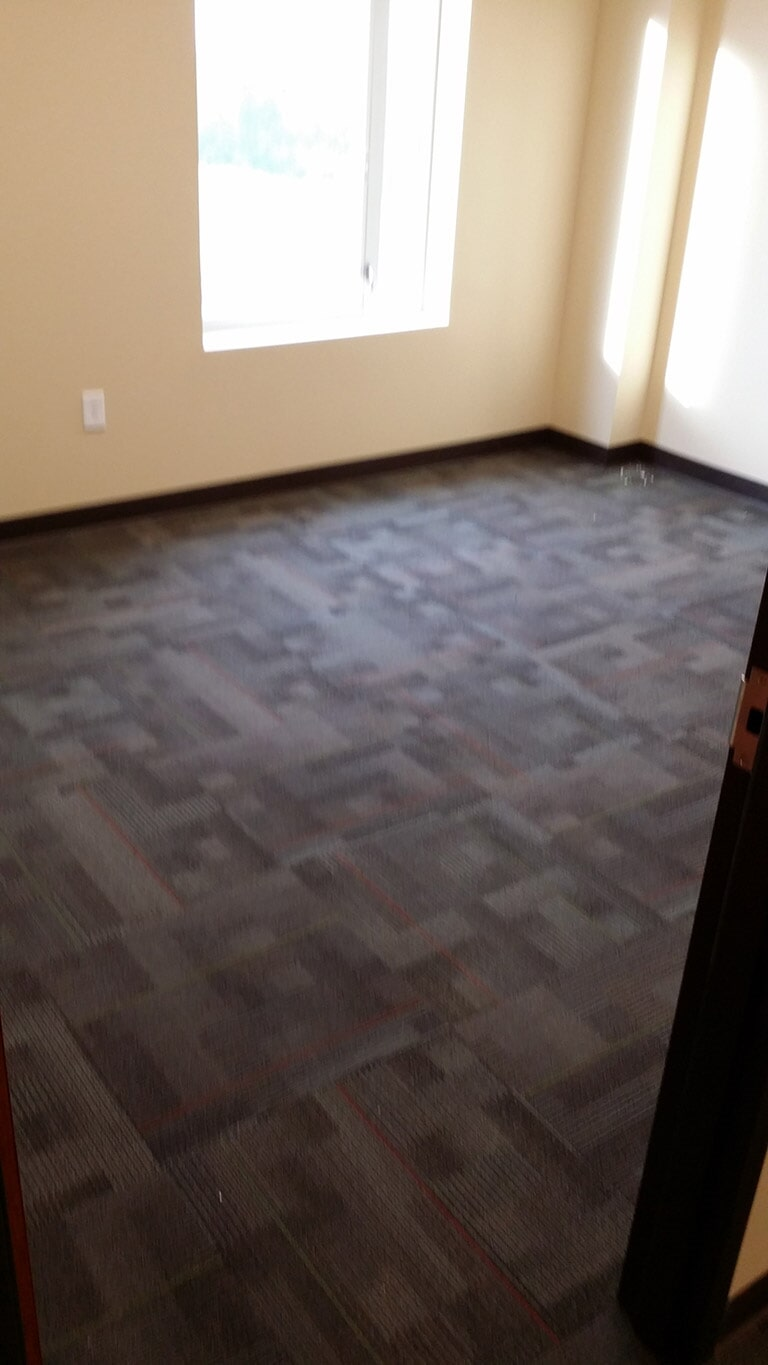 Office carpet tiles in Cumming GA by Purdy Flooring & Design